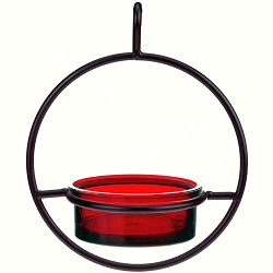 Sphere Hanger Mealworm & Jelly Feeder Red Set of 2