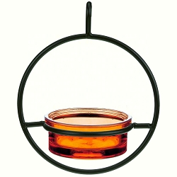 Sphere Hanger Mealworm & Jelly Feeder Orange Set of 2
