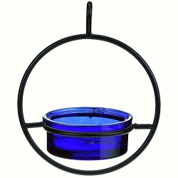 Sphere Hanger Mealworm & Jelly Feeder Cobalt Blue Set of 2