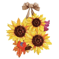 Sunflower Spendor Door Decor