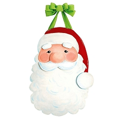 Jolly St. Nick Door Decor
