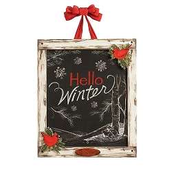 Winter Chalkboard Door Decor