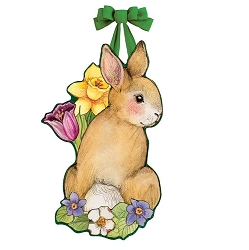 Springtime Bunny Door Decor