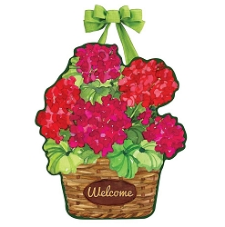 Geranium Variety Door Decor
