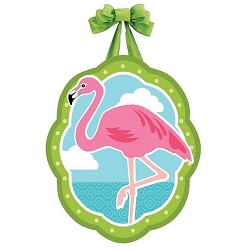 Coastal Flamingo Door Decor