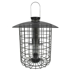 Droll Yankees Sunflower Domed Caged Feeder Black