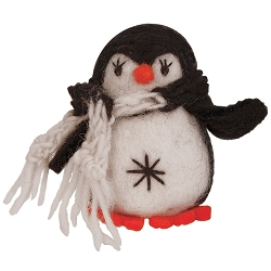 Little Penguin Black Ornament