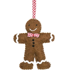 Gingham Gingerbread Man Ornament
