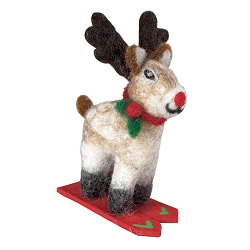 Skiing Rudolph Jr. Ornament