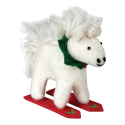 Skiing Unicorn Ornament