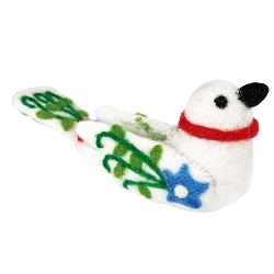 Alpine Love Bird White Ornament