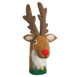 Wild Woolies Bottle Topper Reindeer