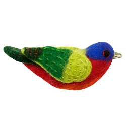 Painted Bunting Woolie Ornament