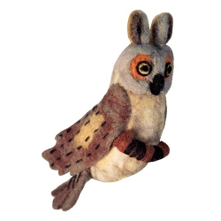 Great Horned Owl Woolie Ornament