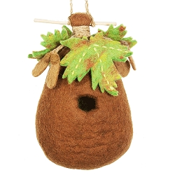 Wild Woolies Maple Felt Birdhouse