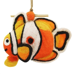 Wild Woolies Clown Fish Felt Birdhouse