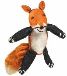 Wild Woolies Fox Finger Puppet Ornament