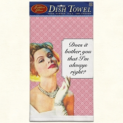 Does It Bother You? Retro Dish Towel