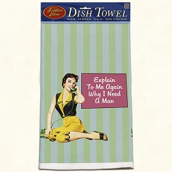 Explain To Me Retro Dish Towel