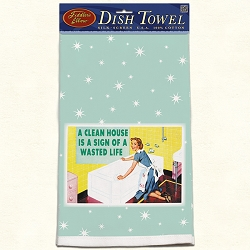 A Clean House Retro Dish Towel