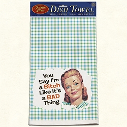 You Say Retro Dish Towel