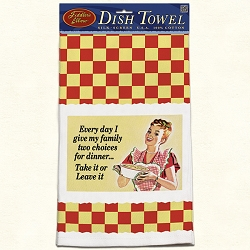 Everyday I Give Retro Dish Towel