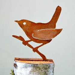 Elegant Garden Design Bird Silhouette Wren on Branch
