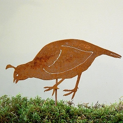 Elegant Garden Design Bird Silhouette California Quail Female Stake
