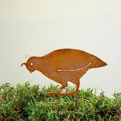 Elegant Garden Design Bird Silhouette California Quail Family Stake Set