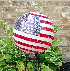 Stars and Stripes Mosaic Gazing Globe 10