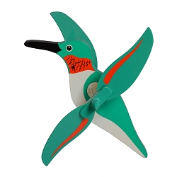 Hummingbird Whirlygig with Pole