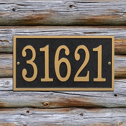 Fast & Easy Rectangle House Numbers Plaque