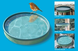 3-in-1 Heated Bird Bath Green/Light Green