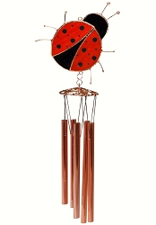 Ladybug Stained Glass Windchime Small 20