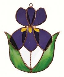 Iris Stained Glass Suncatcher