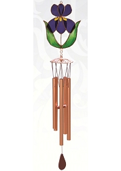 Iris Stained Glass Windchime Small 20