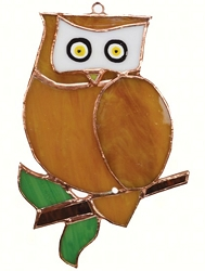 Owl Stained Glass Suncatcher