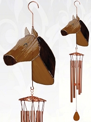 Horse Stained Glass Windchime Large 40