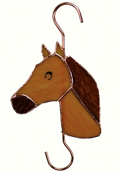 Horse Stained Glass Garden Hook