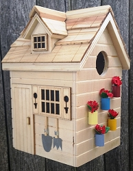 Nestling Series Potting Shed Bird House Natural
