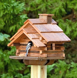Conestoga Log Cabin Natural Cedar Birdhouse