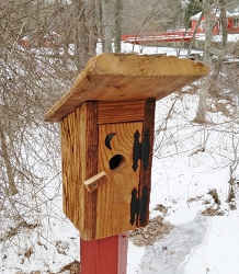 Chester County Mushroom Wood Outhouse Birdhouse
