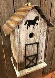Summitville Stable Birdhouse White