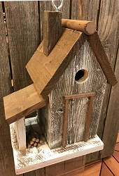 Warwick Woodcutters Cottage Birdhouse White
