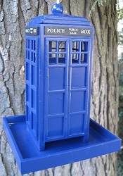Police Call Box Bird Feeder