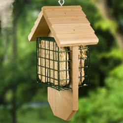 Redwood Woodpecker Chalet Double Suet Feeder