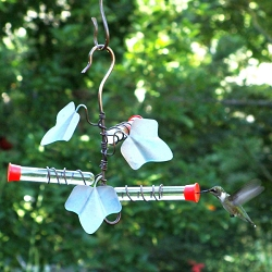 Copper Ivy 3 Station Hummingbird Feeder