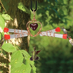 Holland Hill Tweet Heart 4 Tube Hummingbird Feeder