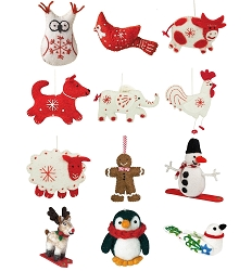 Wild Woolies Holiday Ornament Collection Set of 12