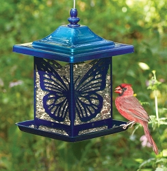 Classic Monarch Electric Blue Lantern Feeder